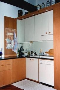 Abitazione a Venezia, cucina in faggio, Arch. Carlo Capovilla 1