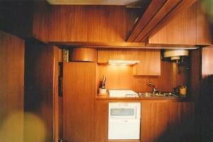 Abitazione a Venezia, cucina in mogano, Arch. Valeriano Pastor 1