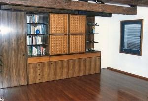 Abitazione a Venezia, mobile soggiorno in palissandro, Arch. Carlo Capovilla 1