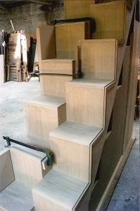 Abitazione a Venezia, scala a pappagallo, Arch. Franca Semi 2