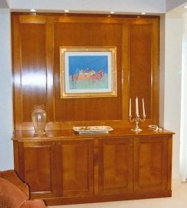 Studio a Venezia, mobile in noce, Arch. Carlo Capovilla